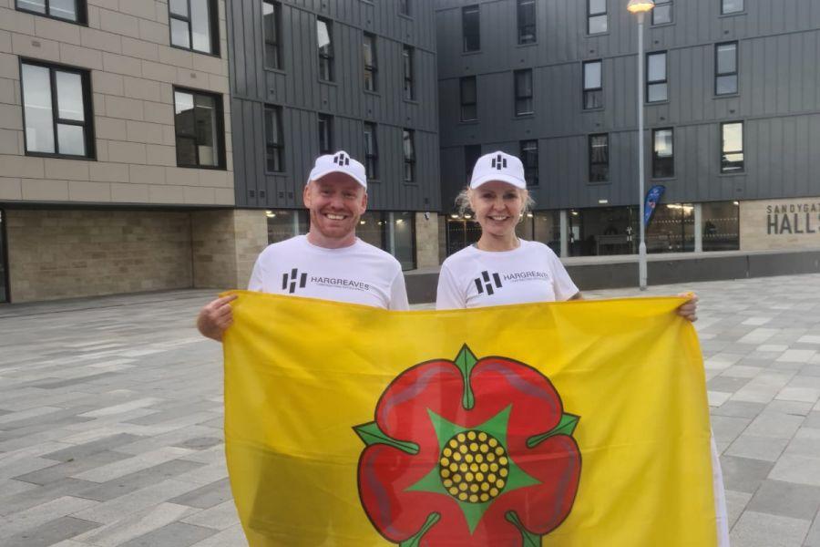 Shaun and Nicola complete the Lancashiremen Trail marathon